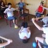 cvičení s tyčemi
